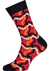 Happy Socks Squiglly Sock, rood met blauw