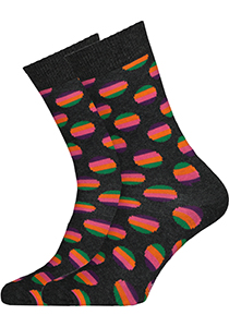Happy Socks Sunrise Dot Sock antraciet
