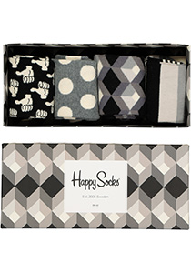 Happy Socks sokken, Happy Black White Gift Box