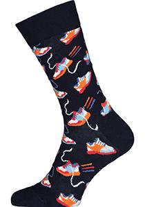Happy Socks Run For It Sock, unisex sokken, blauw met sneakers