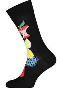 Happy Socks Fruit Stack Sock, unisex sokken, zwart met fruit
