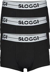 Sloggi Men GO Hipster, heren boxers (3-pack), zwart