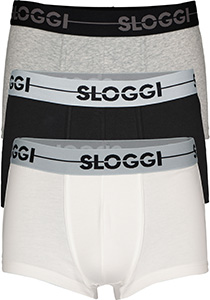 Sloggi Men GO Hipster, heren boxers (3-pack), grijs en wit