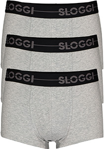 Sloggi Men GO Hipster, heren boxers (3-pack), grijs
