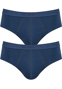 Sloggi Men 24/7 Midi, heren slips (2-pack), blauw