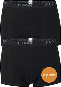 Sloggi Men Basic Short, heren boxers (2-pack), zwart