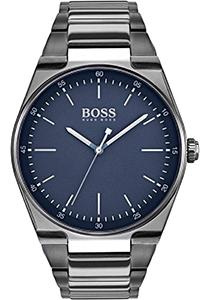 HUGO BOSS heren horloge (42mm), staal met blauw met stalen band