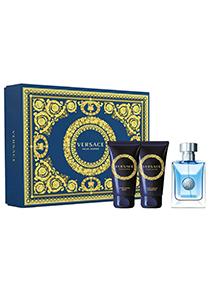 Heren cadeauset: Versace pour homme 50ml eau de toilette spray, 50ml hair and shower gel, 50ml after shave balm