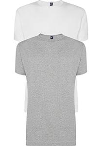ALAN RED T-shirts Derby (2-pack), O-hals, wit en grijs melange