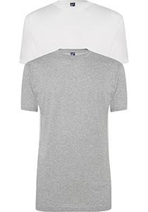 ALAN RED T-shirts Virginia (2-pack), O-hals, wit en grijs melange
