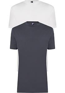 ALAN RED T-shirts Virginia (2-pack), O-hals, wit en antraciet grijs