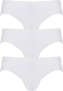 ten Cate  Basic women bikini slips (3-pack), dames slips lage taille, wit