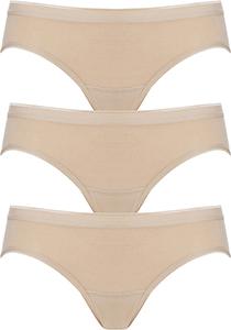 ten Cate  Basic women bikini slips (3-pack), dames slips lage taille, huidskleur