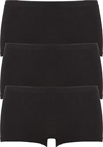ten Cate Basic women shorts (3-pack), dames boxers middelhoge taille, zwart