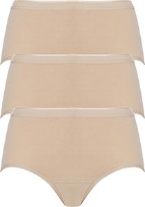 ten Cate Basic women midi (3-pack), dames slips middelhoge taille, huidskleur