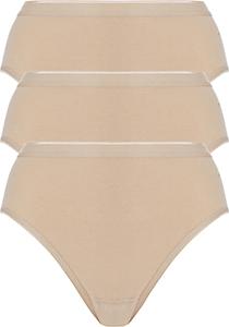 ten Cate Basic women highleg (3-pack), dames slips middelhoge taille, huidskleur