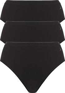 ten Cate Basic women highleg (3-pack), dames slips middelhoge taille, zwart