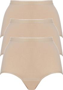 ten Cate Basic women maxi (3-pack), dames slips hoge taille, huidskleur