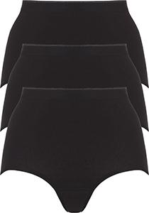 ten Cate Basic women maxi (3-pack), dames slips hoge taille, zwart