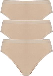 ten Cate Basic women rio (3-pack), dames slips lage taille, huidskleur
