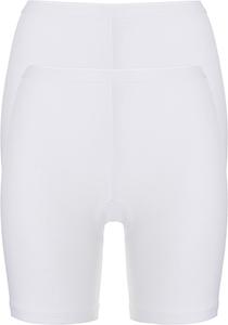 ten Cate Basic women pants  (2-pack), dames slips lange pijp met middelhoge taile, wit