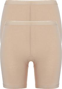 ten Cate Basic women pants  (2-pack), dames slips lange pijp met middelhoge taile, huidskleur