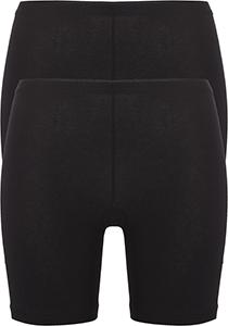 ten Cate Basic women pants  (2-pack), dames slips lange pijp met middelhoge taile, zwart