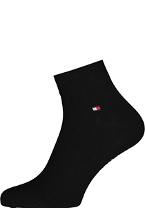 Tommy Hilfiger Quarter Socks (2-pack), herensokken katoen kort, zwart