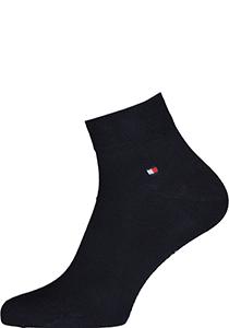 Tommy Hilfiger Quarter Socks (2-pack), herensokken katoen kort, blauw
