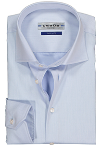 Ledûb Tailored Fit overhemd mouwlengte 7, blauw
