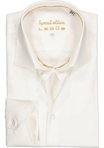 Ledûb Tailored Fit overhemd mouwlengte 7, beige