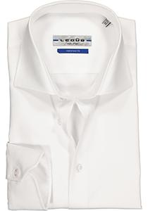 Ledûb Tailored Fit overhemd mouwlengte 7, wit