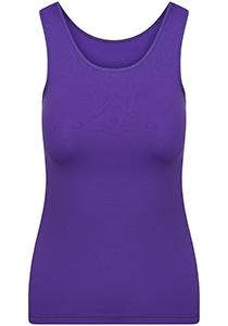 Pure Color dames top (1-pack), hemdje met brede banden, paars