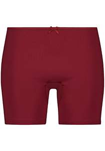 Pure Color dames extra lange pijp short, donkerrood