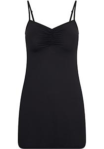Pure Color dames jurk (1-pack), onderjurk met verstelbare bandjes, zwart