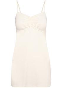 Pure Color dames jurk (1-pack), onderjurk met verstelbare bandjes, ivoor