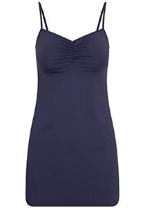 Pure Color dames jurk (1-pack), onderjurk met verstelbare bandjes, donkerblauw