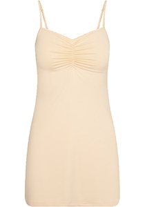 Pure Color dames jurk (1-pack), onderjurk met verstelbare bandjes, huid