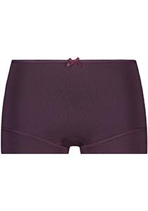 Pure Color dames short, aubergine