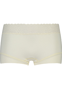 Pure Color Kant dames short, ivoor