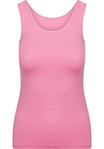 Pure Color dames top (1-pack), hemdje met brede banden, felroze