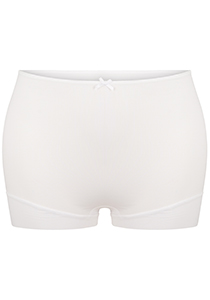 Pure Color dames short extra hoog, wit