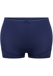 Pure Color dames short extra hoog, donkerblauw
