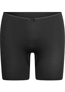 Pure Color dames extra lange pijp short, zwart