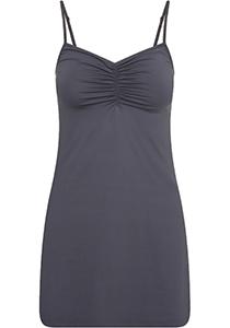Pure Color dames jurk (1-pack), onderjurk met verstelbare bandjes, grijs