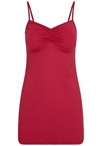 Pure Color dames jurk (1-pack), onderjurk met verstelbare bandjes, donkerrood