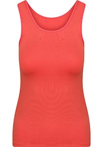 Pure Color dames top (1-pack), hemdje met brede banden, koraal