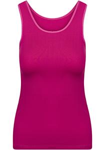 Pure Color dames top (1-pack), hemdje met brede banden, fuchsia