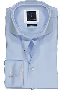 Profuomo Originale slim fit overhemd, 2-ply twill, lichtblauw (contrast)