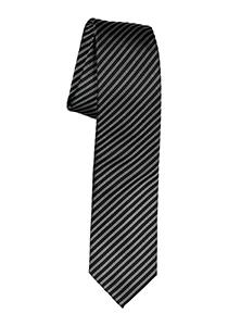 Michaelis stropdas, zwart-wit gestreept
